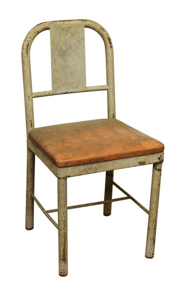 Single Upholstered Metal School Chair
