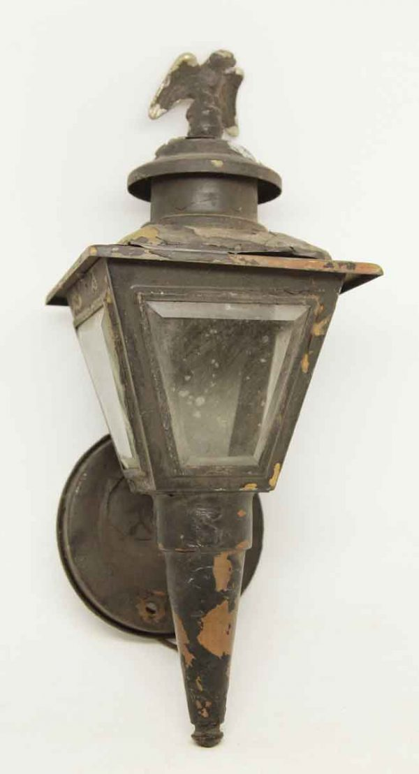 Exterior Copper Sconce with Eagle Finial