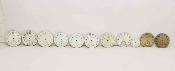 Set of Assorted Vintage Round Clock Faces