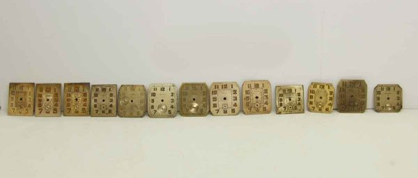 Set of Assorted Square Clock Faces