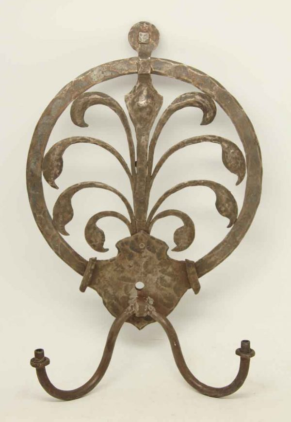 Olde Hammered Iron Sconce
