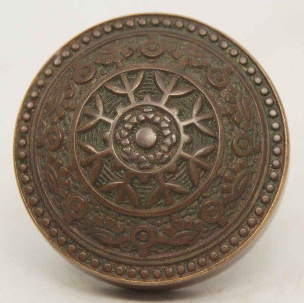 Collectors Quality Single Ornate Bronze Knob