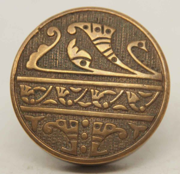Single Ornate Collectors Quality Bronze Knob