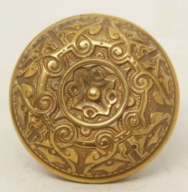 Collectors Quality Brass Ornate Single Knob