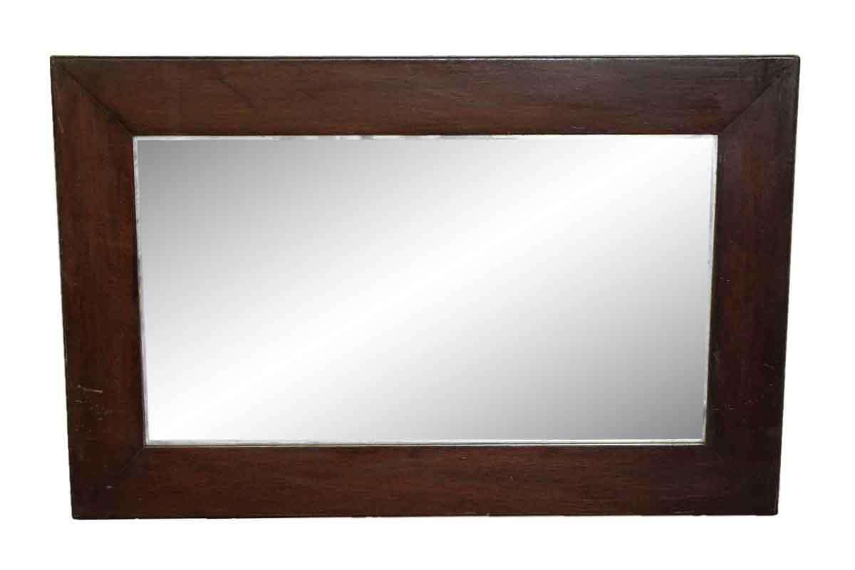 Vintage Wood Frame Wall Mirror