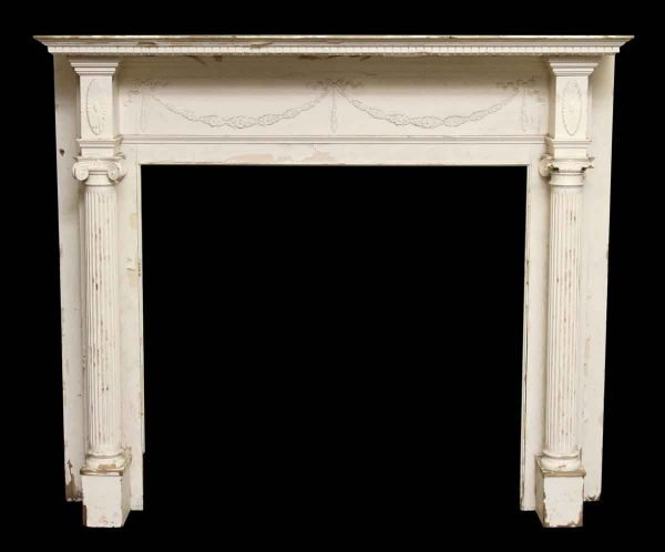 White Federal Wooden Mantle