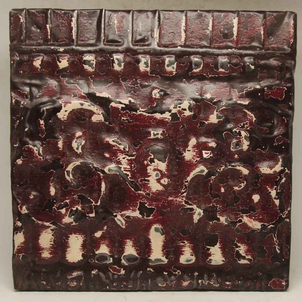 Burgundy Border Tin Panel