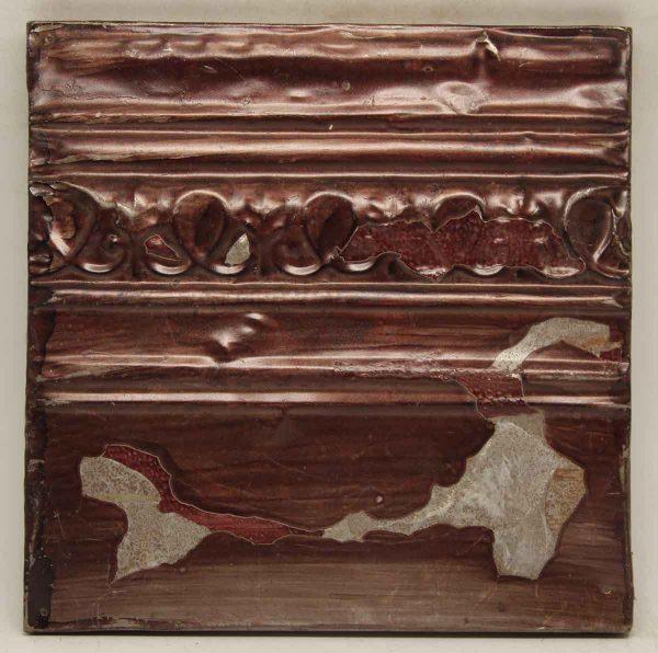 Burgundy Decorative Tin Panel