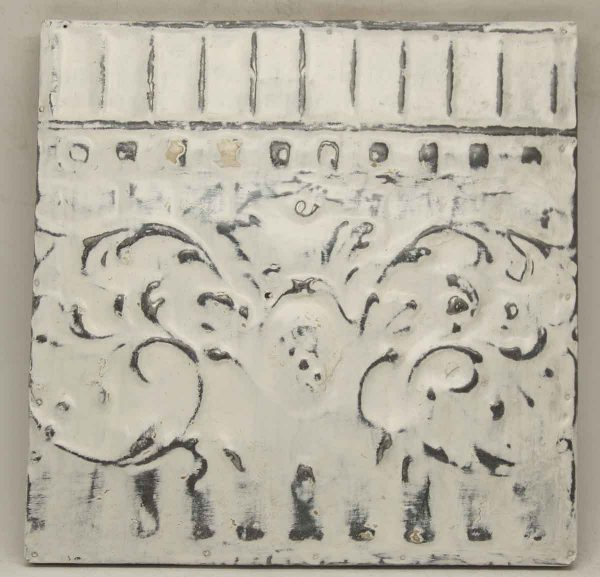 Decorative White Border Tin Panel