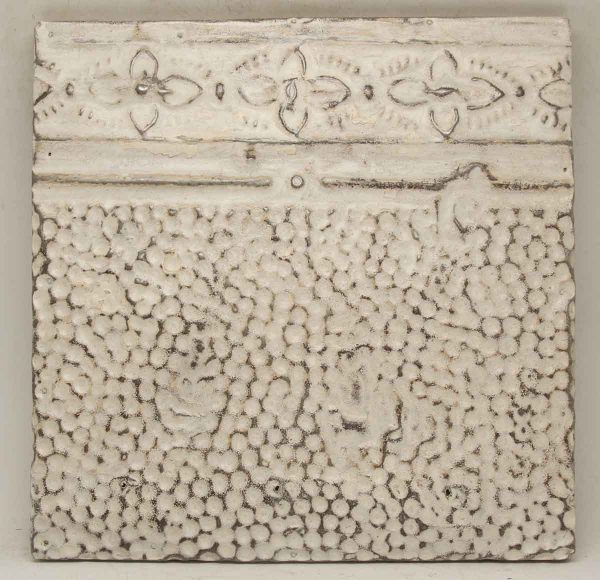 Textured White Tin Panel