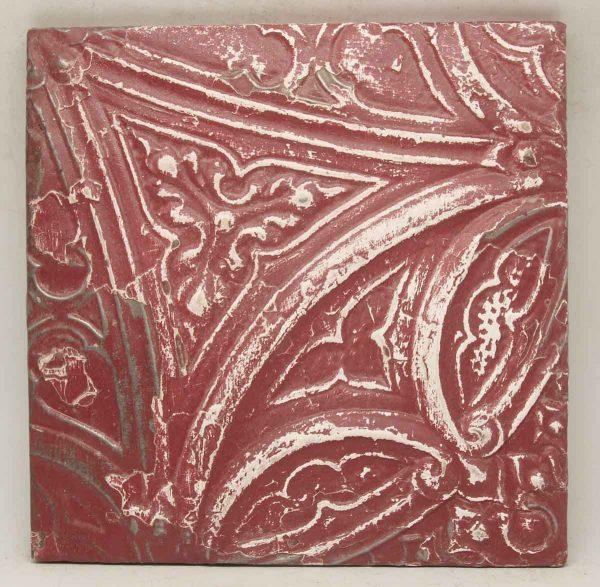Red Asymmetrical Tin Panel