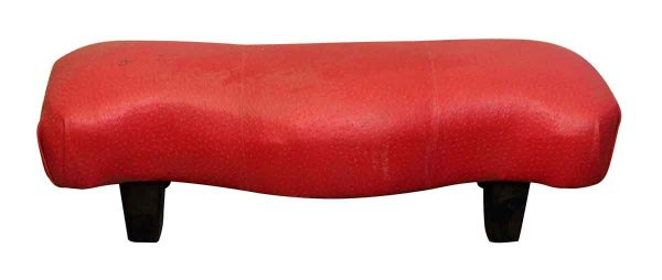 Short & Long Dotted Red Curved Stool