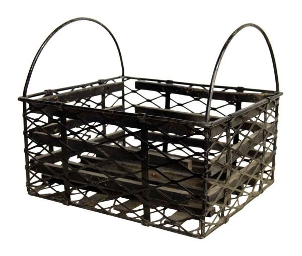 Vintage Black Metal Basket