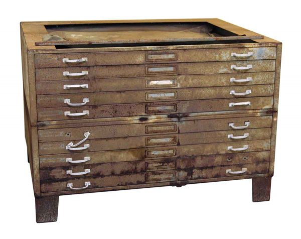 Metal Cabinet with 10 Drawers