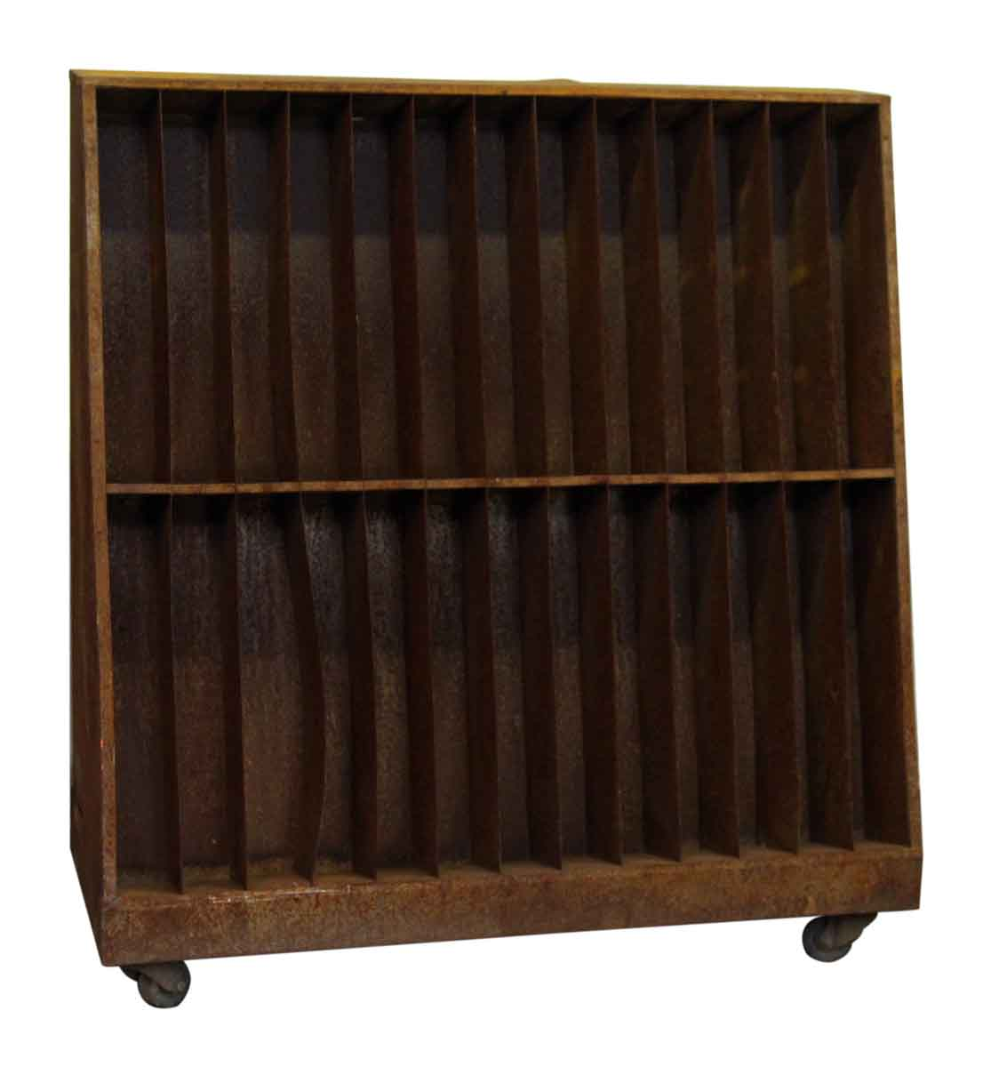 Industrial Rolling Cart With Storage Shelves Olde Good
