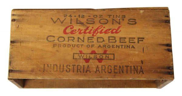 Vintage Wilsons Wooden Crate