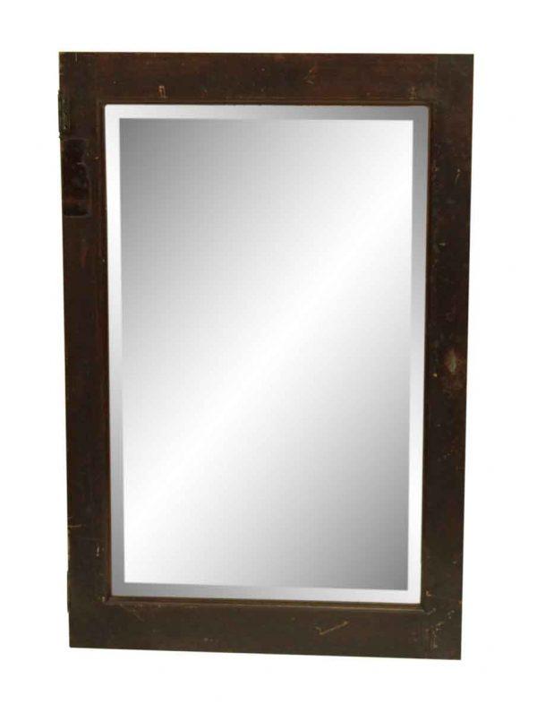 Wood Framed Cabinet Mirrored Door