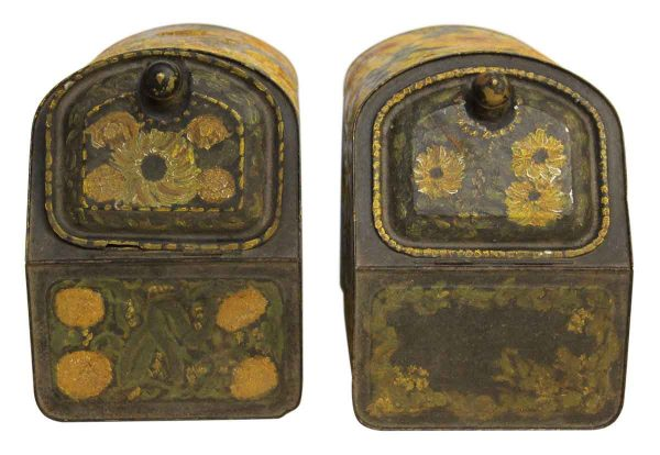 Vintage Hand Painted Floral Spice Boxes