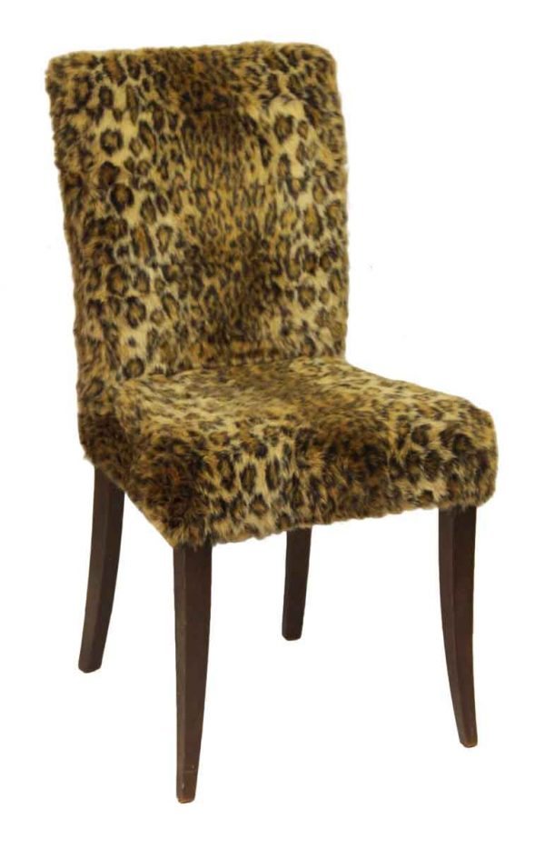 Fuzzy Leopard Chair