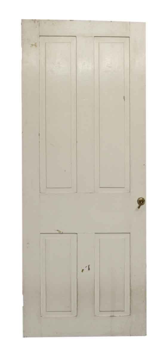 Single White Door with Four Panels