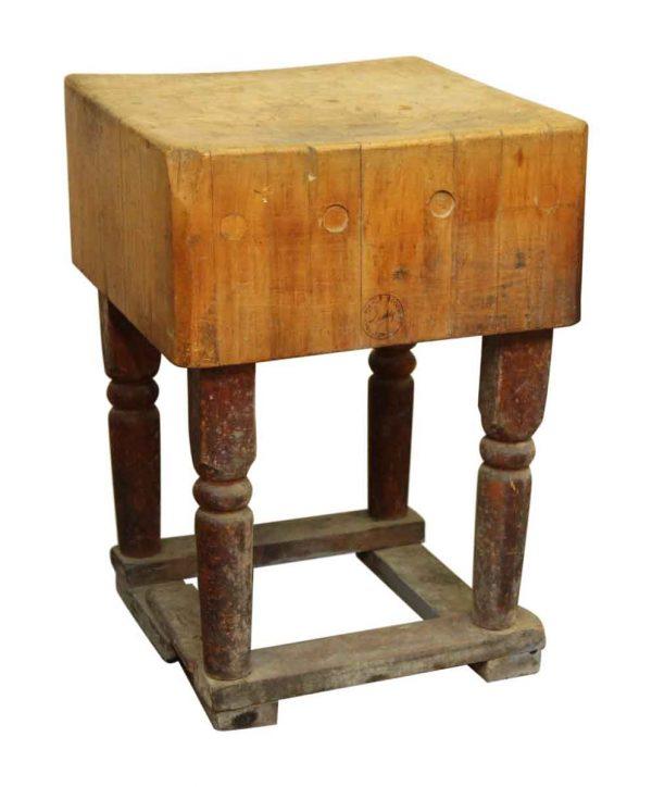 Square Butcher Block Table