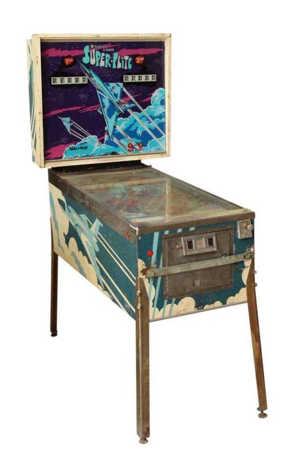 Old Arcade Pinball Super Flite Game