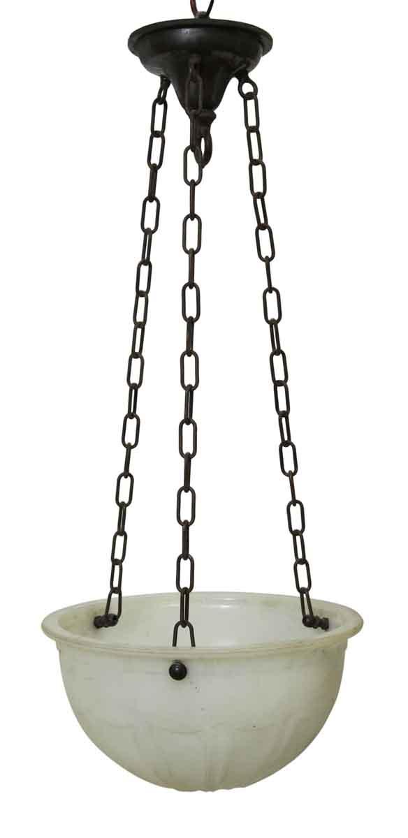 Cast Glass Bowl Light