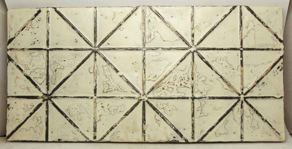 White & Sliver Tin Panel