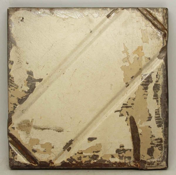 Cream Colored Decorative Tin Panel