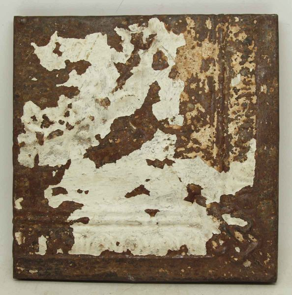 White & Brown Tin Panel