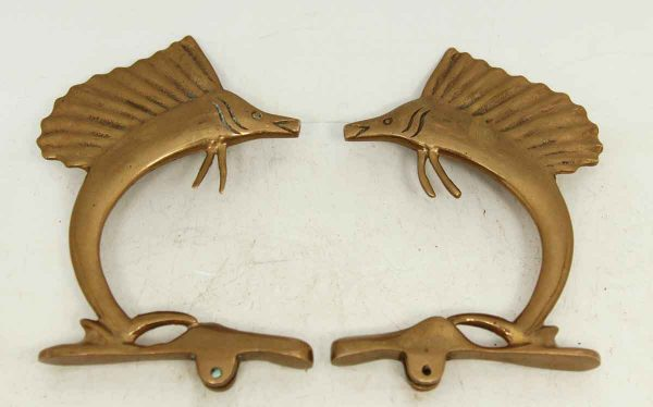 Pair of Swordfish Finials