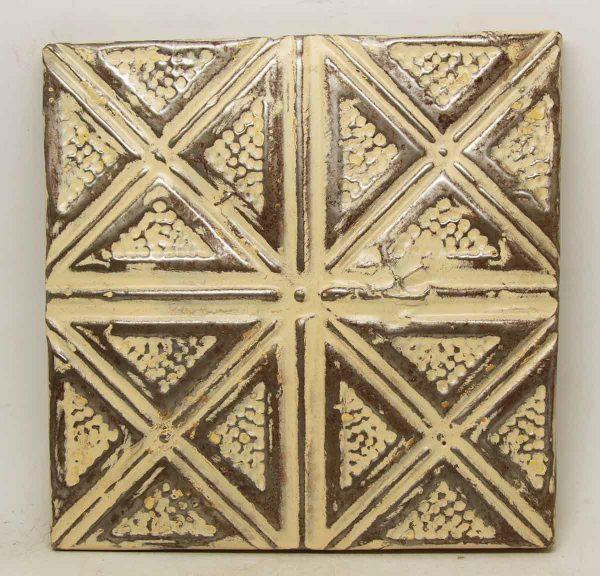 Tan Four Fold Tin Panel