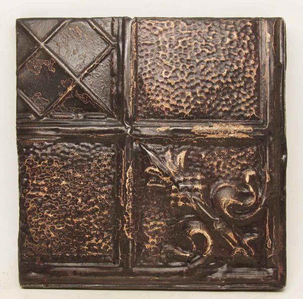 Decorative Brown Tin Panel