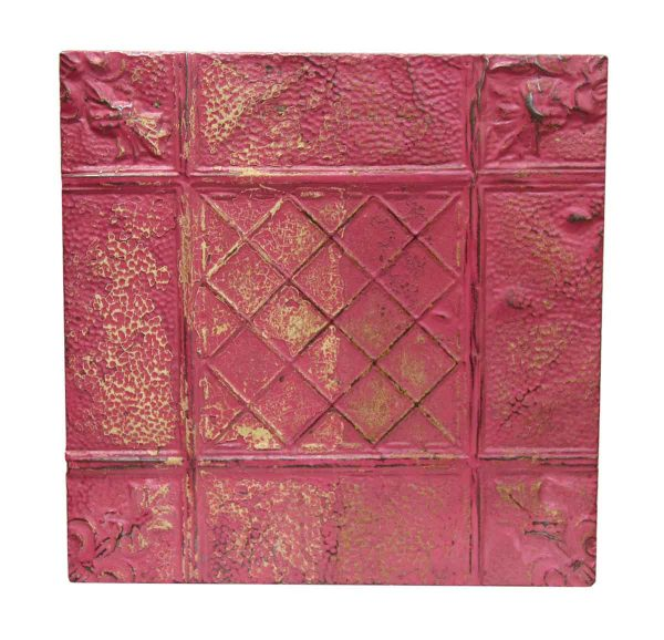 Pretty Pink Mixed Pattern Tin Panel