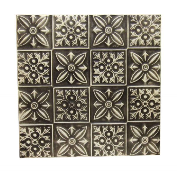 Mixed Pattern Black & White Repro Tin Panel