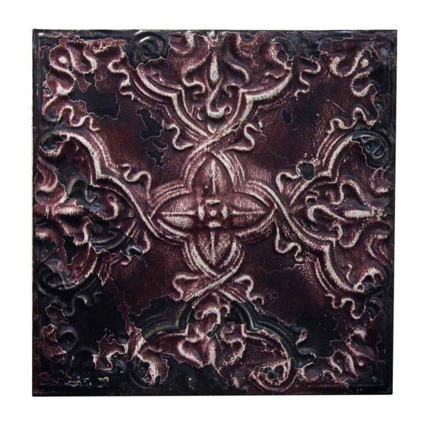 Purple & White Decorative Tin Panel