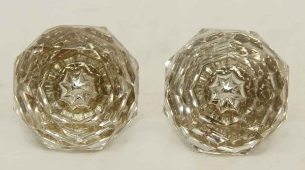Glass Pair of Knobs with Star Bullet