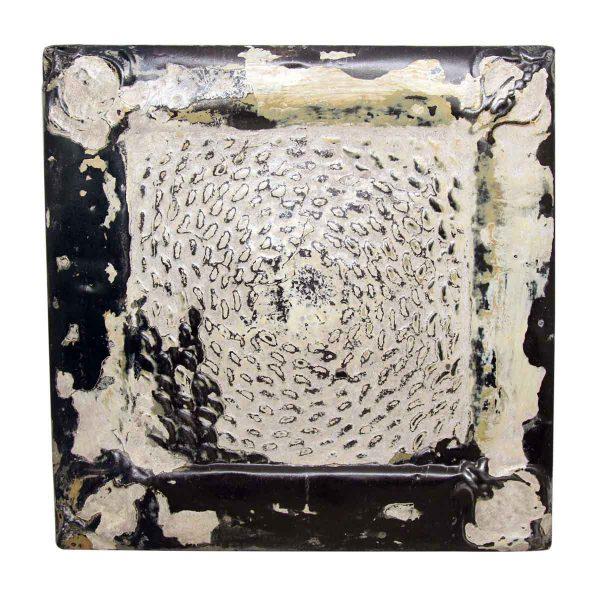 Worn White Tin Panel