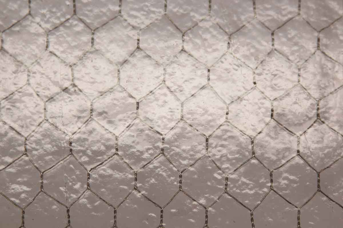 Purple Tinted Hammered Chicken Wire Glass | Olde Good Things
