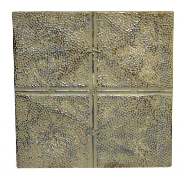 Decorative Tin Panel with Speckled Quadrants