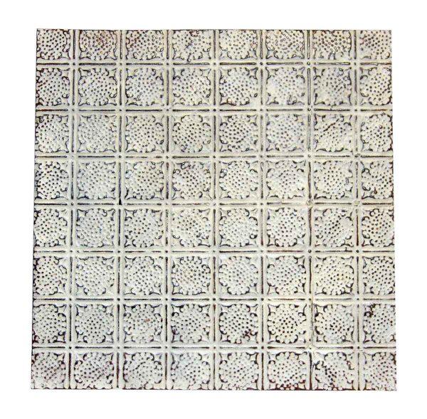 White Geometric Decorative Tin Panel