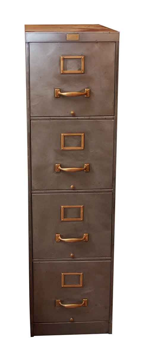 Four Drawer Steel Filing Cabinet By General Fireproofing Co.