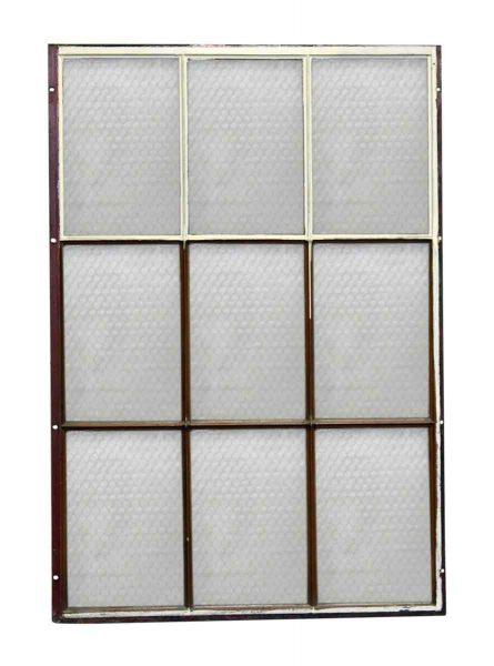 Chicken Wire Glass Nine Panel Metal Window