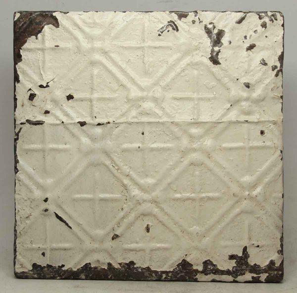 White Geometric Tin Panel