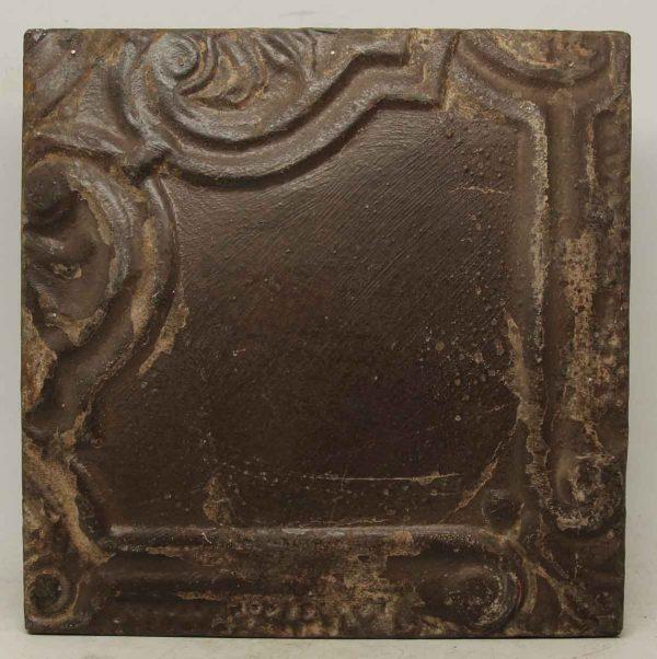 Decorative Corner Brown Tin Panel