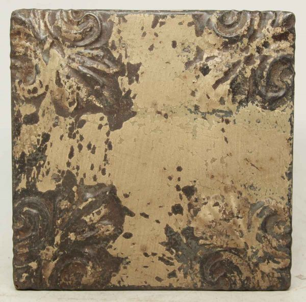 Tan Brown 4 Fold Tin Panel