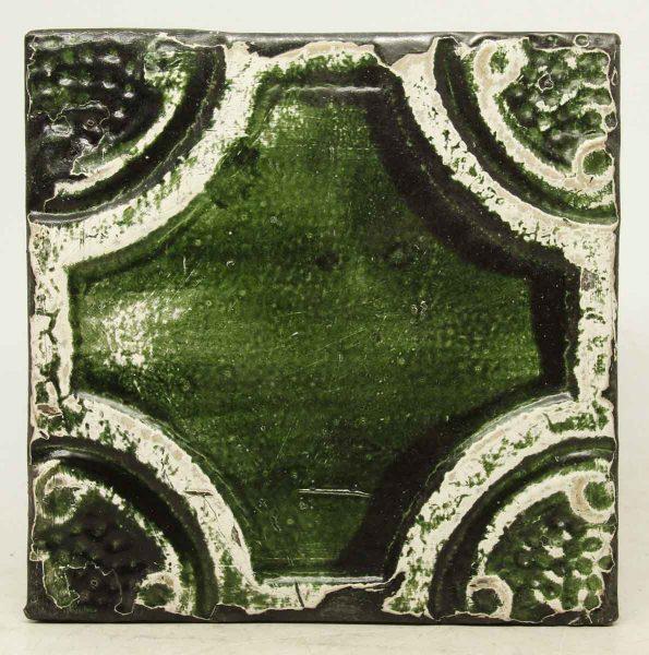 Green & White Decorative Tin Panel
