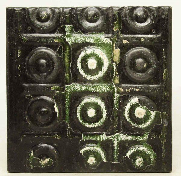Green Black Bulls Eye Tin Panel