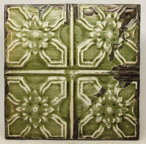 Green Shellac 4 Fold Tin Panel