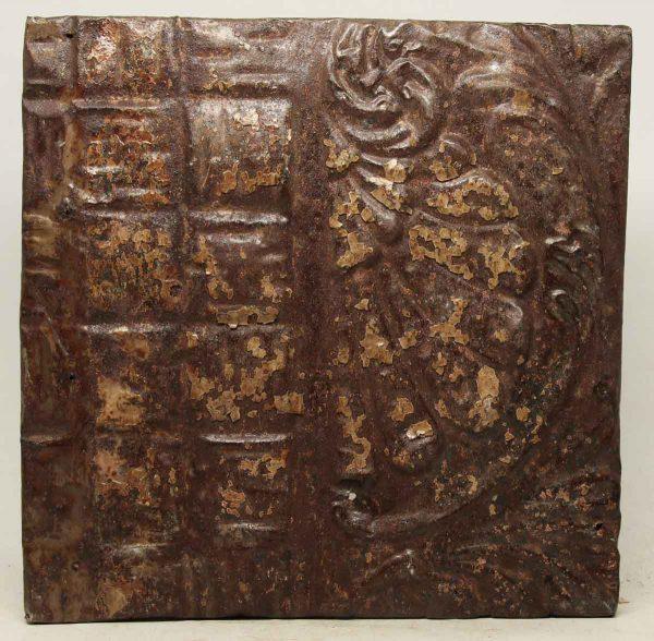 Decorative Brown & Tan Tin Panel
